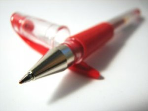 Red editing pen