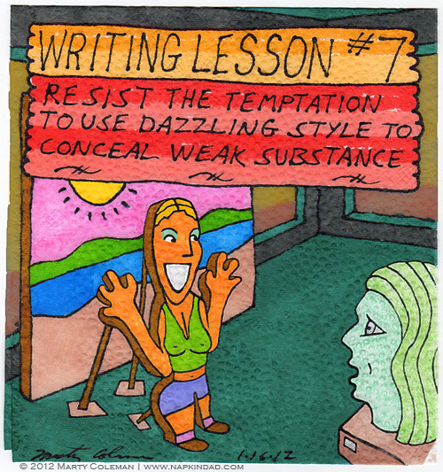 Marty Coleman-Writing Lesson #7