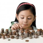 Kid counting money