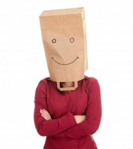 paper bag on head