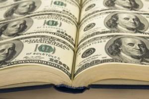 Book made of money