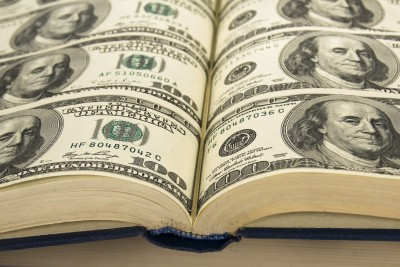 Book made of money