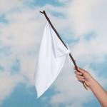 surrender white flag