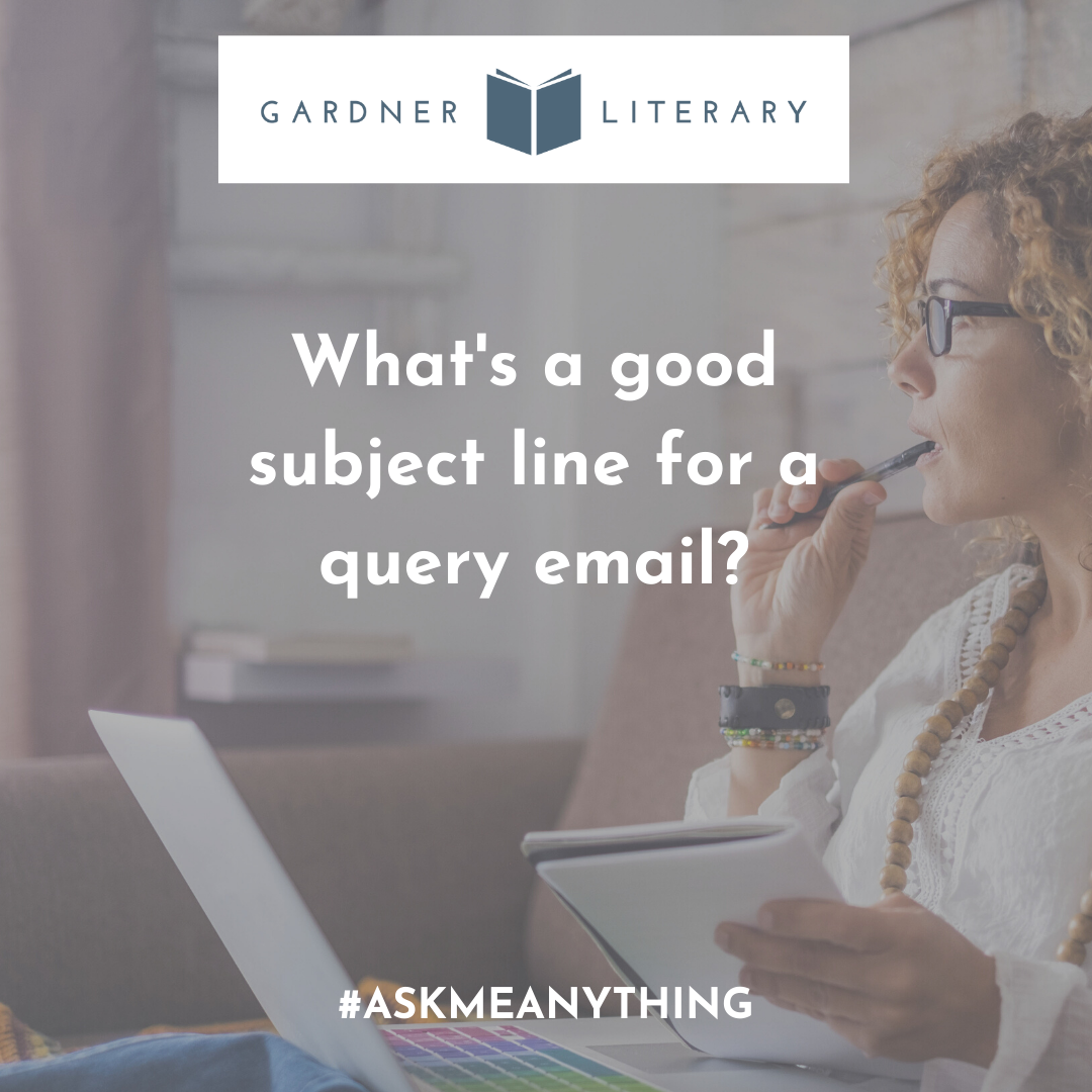 What's a good subject line for a query email?